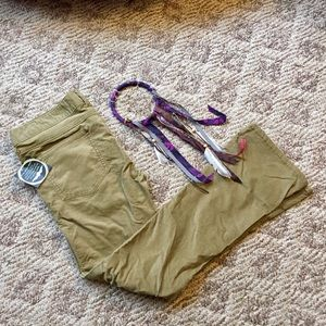 Free People Green Velvet Pants — size 31